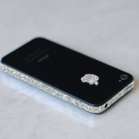 iPhone 4S Antenna Wrap Sparkling Silver by kellokult on Etsy