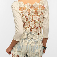 Urban Outfitters - Staring At Stars Fringe-Back Sweatshirt