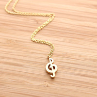 simple MUSIC NOTE necklace, 2 colors | girlsluv.it