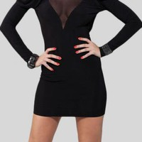 Black Little Black Dress - Open Back Dress | UsTrendy