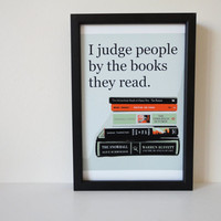 Typography Print Judge People by the Books by SacredandProfane