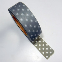 Grey and White Polka Dot Washi Tape