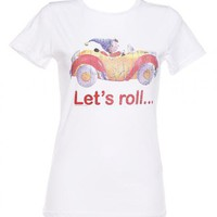 Ladies Noddy Let's Roll T-Shirt From Too Late To Dye Young : TruffleShuffle.com