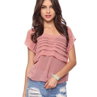 Buttoned Spine Sheer  Top | FOREVER21 - 2000033247