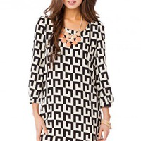 Dorine Geo Shift Dress - ShopSosie.com