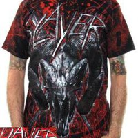 ROCKWORLDEAST - Slayer, T-Shirt, Mongo Goat Skull, All Over Print