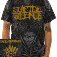 ROCKWORLDEAST - Suicide Silence, T-Shirt, Black Crown, All Over Print