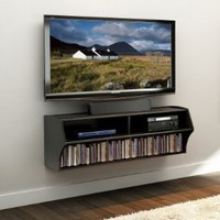 Amazon.com: Prepac Altus Wall Mounted Audio/Video Console, Black: Home & Kitchen