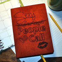 Sexy People to Call, Blank Book, Journal