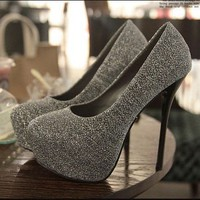 Sexy Sleek Heels - Silver Gray from Pop and Shop