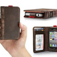 BookBook Leather iPhone 4 Wallet - HackerThings