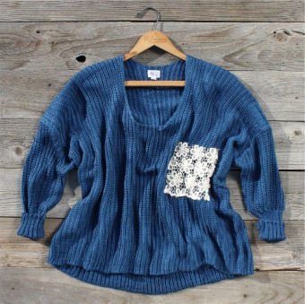 Tucker Lace Pocket Sweater, Sweet Country Women's Clothing