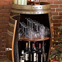 Rolling Wine Barrel Bar / Oenophile&#x27;s Bar -- Orvis
