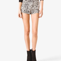 Studded Leopard Print Shorts | FOREVER21 - 2021622204