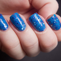 Watercolor  Neon Blue Nail Polish  05 oz Full Sized by KBShimmer