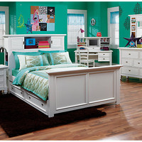 Belmar  White 6 Pc Full Bookcase Bedroom