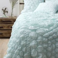 Catalina Quilt, Aqua - Anthropologie.com