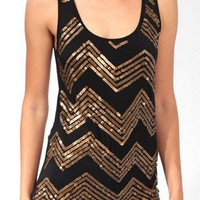 Sequined Zigzag Tank | FOREVER 21 - 2021841025