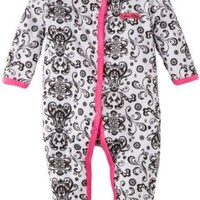 Amazon.com: Calvin Klein Baby-girls Newborn Print Stretchie Coverall: Clothing