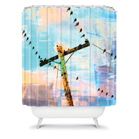 DENY Designs Home Accessories | Shannon Clark Modern Birds Shower Curtain