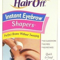 Hair Off Instant Eyebrow Shapers Cold Wax Strips 18's
