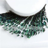 Qirtie Fashion Ornament Makeup Peacock Women's False Eyelashes -  DinoDirect.com