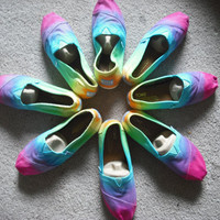 Tie dye Toms shoes