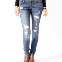 Distressed Denim Skinnies | FOREVER21 - 2025101168