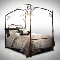 Wrought Iron Enchanted Forest Canopy Bed