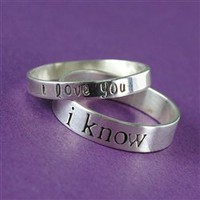 Han &amp; Leia Solid Sterling Silver Wedding Bands - Spiffing Jewelry