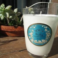 Sofia Recycled Wine Bottle Scented Soy Candle- Love  Spell