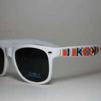 hand beaded sunglasses tribal design