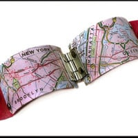 New York Map Cuff