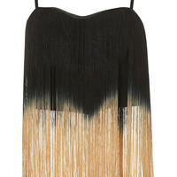 **Ombre Fringe Top by Rare - New In - Topshop