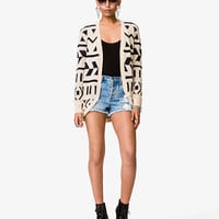 Geo Print Shawl Cardigan | FOREVER 21 - 2038450934