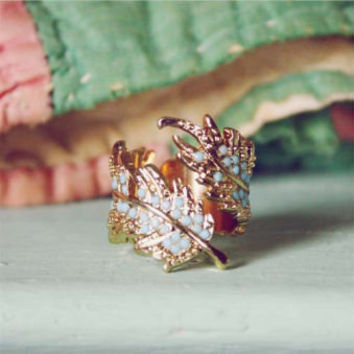 Coldwater Feather Ring, Sweet Country Inspired Jewelry