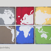 The Vintage World Map Collection XVIII by CallaghanArtGallery