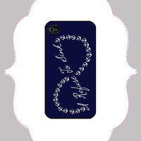 iPhone  Case- Refuse to Sink Infinity- iPhone 4 Case, iPhone 4s Case, iPhone 5 Case, Monogram Case, Personalized iPhone Case