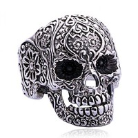 Punk Style Silver Skull Ring  accessoryinlove