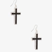 Lacquered Cross Earrings | FOREVER 21 - 1021841285