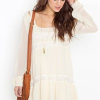 Bowery Dress - Ivory in  Clothes Dresses at Nasty Gal