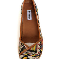 Not Rated Ice Cream Multi Brights Southwest Print Flats - $39.00