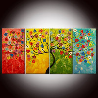 Original Modern Abstract Large Abstract by FlowerArtPainting