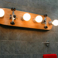 $245.00 Skateboard  Bathroom Vanity Lighting Fixture Wall by ZALcreations