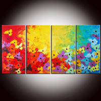 Original Modern Abstract Flowers Large 