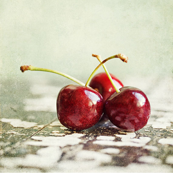 Cherry Fine Art Photograph Cheerful by LisaRussoPhotography