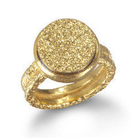 Gold Druzy Ring by Wendy Mink | Charm &amp; Chain