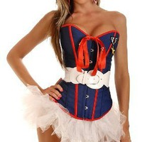 Daisy Corsets 4 PC Sexy Marine Costume Medium