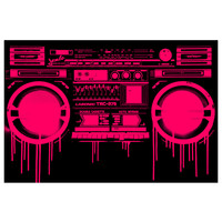 Melting Boombox Red