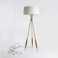Mulberry Tripod Floor Lamp &amp; Fabric Shade | Schoolhouse Electric &amp; Supply Co.
